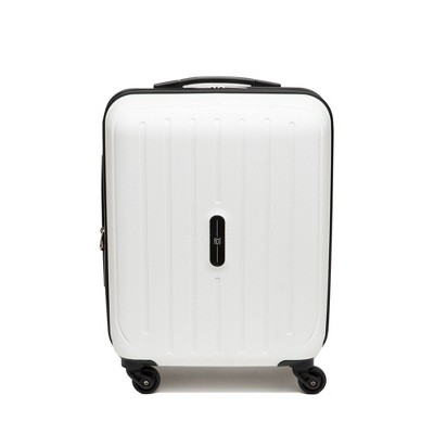"""FUL Pure 21"""" Carry On Rolling Suitcase - White"""