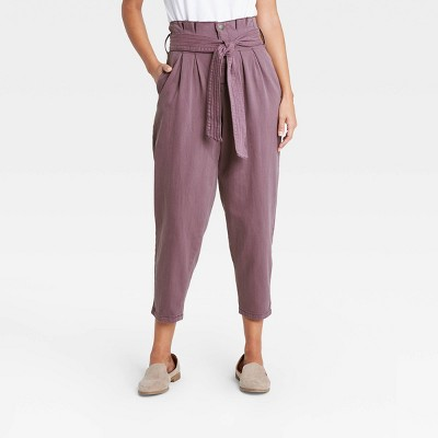 Women's High-Rise Tapered Cropped Jeans - Universal Thread™ Purple