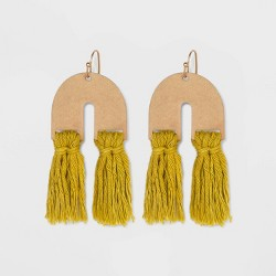 U Shape with Tassel Drop Earrings - Universal Thread™