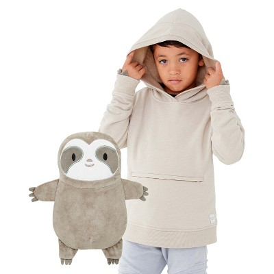 Cubcoats Toddler Sao the Sloth 2-in-1 Stuffed Animal & Hooded Pullover Sweatshirt
