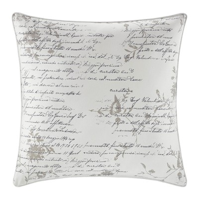 Natural Script Throw Pillow - CITY SCENE