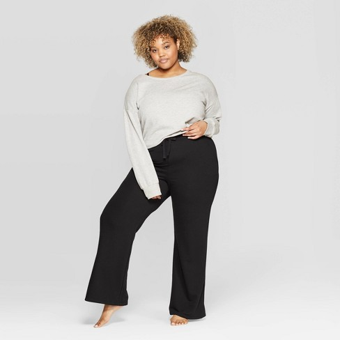 Women\'s Plus Size Wide Leg Lounge Pajama Pants - Colsie™