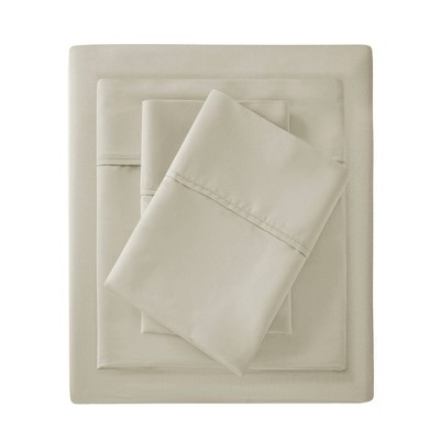 California King 1500 Thread Count Cotton Rich Sheet Set Ivory
