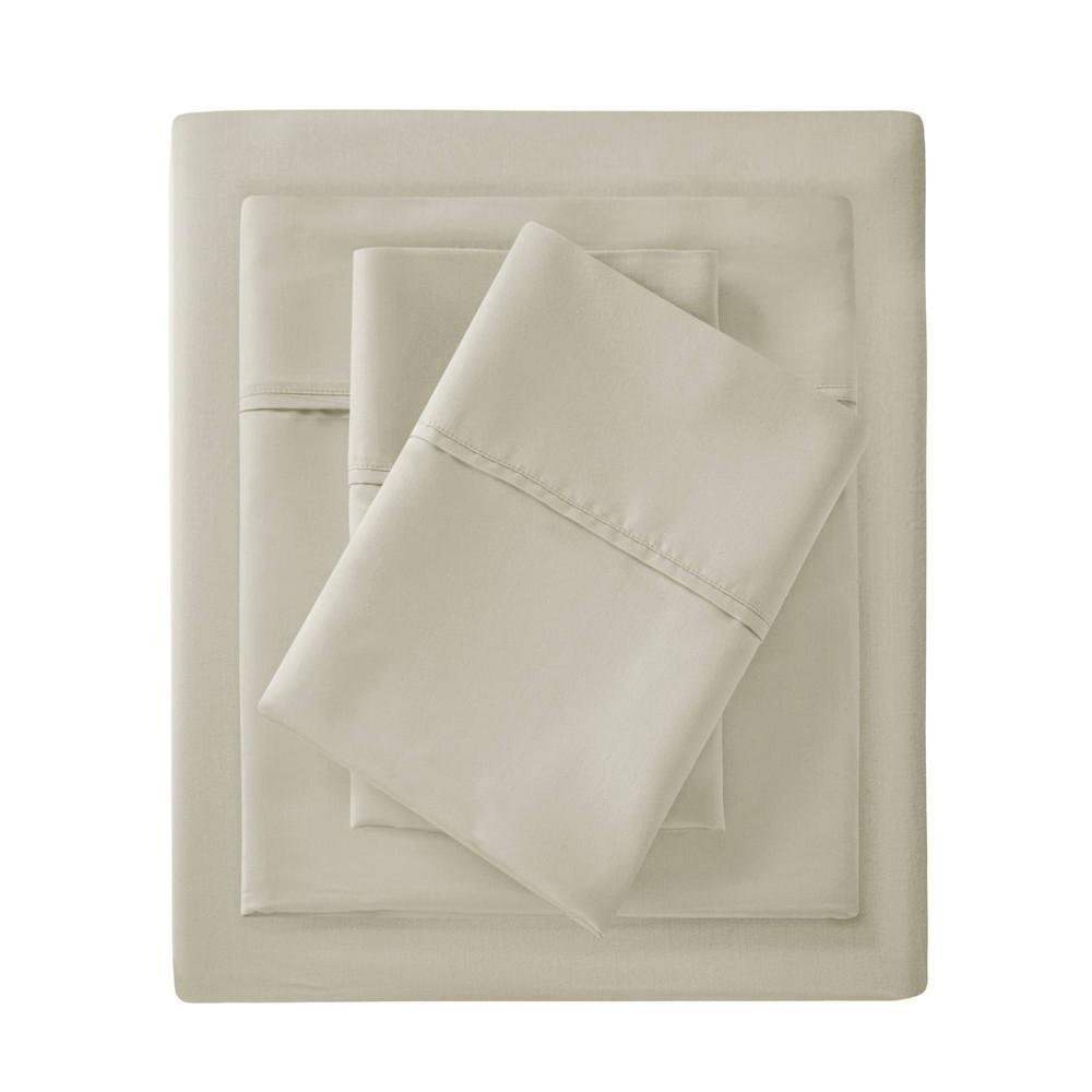 King 1500 Thread Count Cotton Rich Sheet Set Ivory