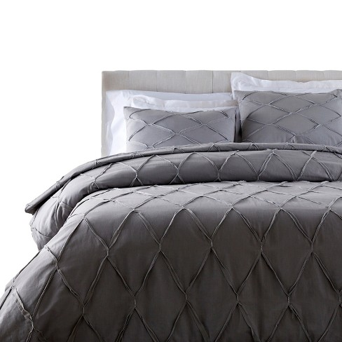 Sofia Solid Duvet Set Gray - Surya® - image 1 of 1