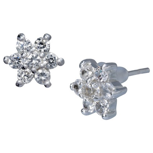 Stud Earrings with Crystals - Clear - image 1 of 1