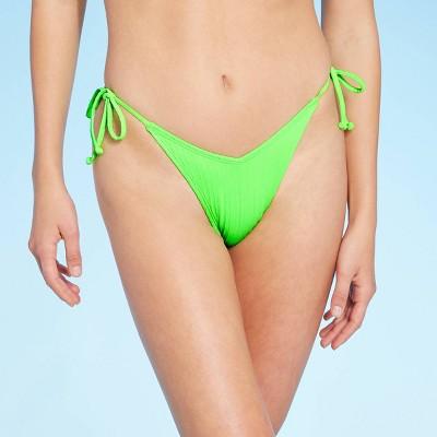 Juniors' Textured High Leg V-String Bikini Bottom - Xhilaration™