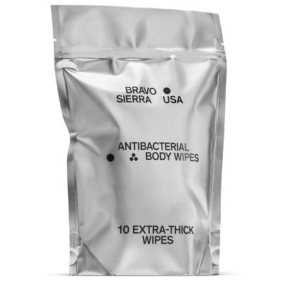 Bravo Sierra Antibacterial Body Wipes - 10ct