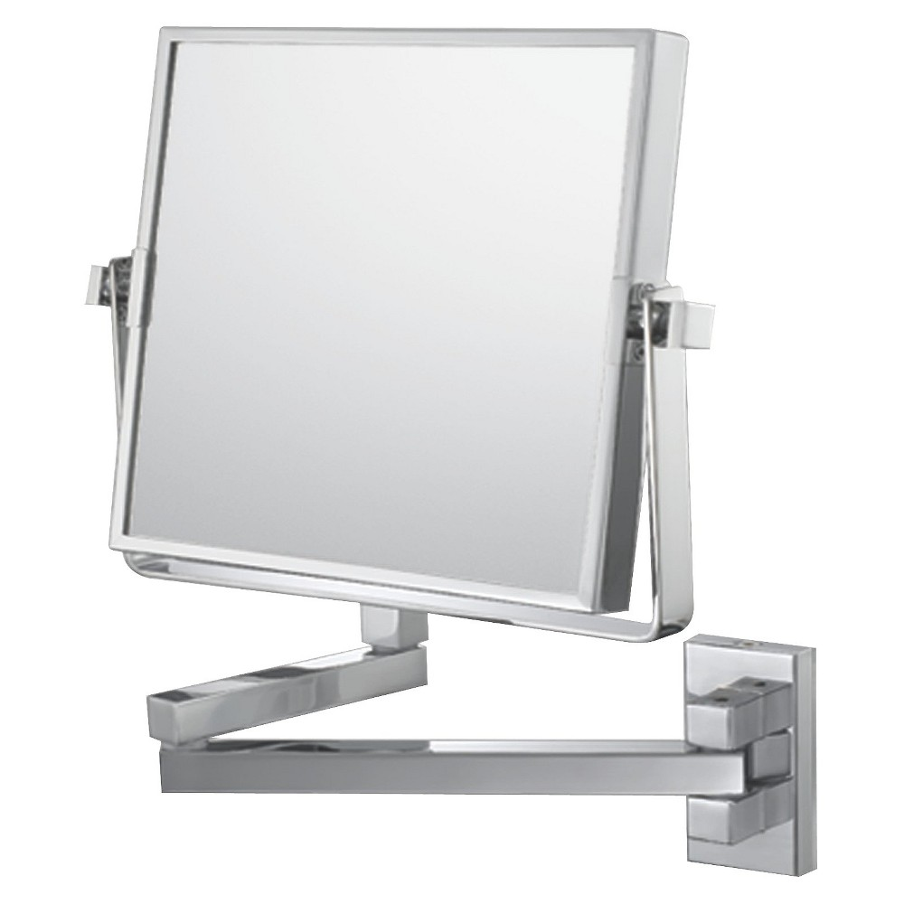 "Image of ""Bathroom Mirror Image Square Wall Bathroom Mirror 7.75"""" Chrome - Aptations, Grey"""