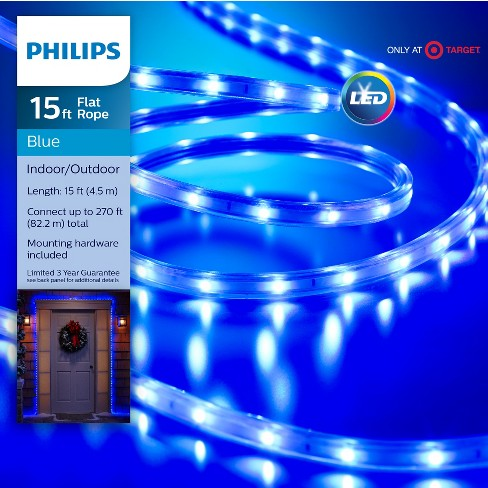 philips 135ct christmas led rope string lights blue target