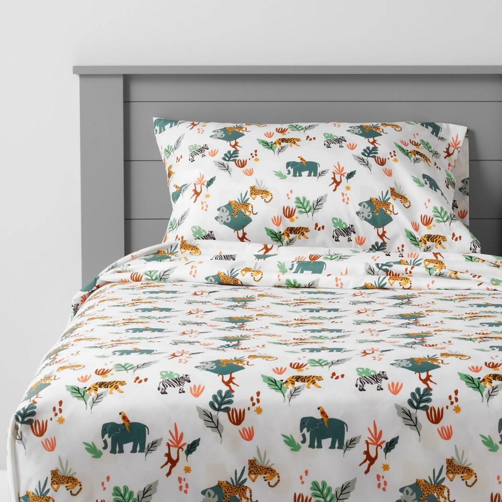 Twin Jungle Microfiber Sheet Set Pillowfort 8482