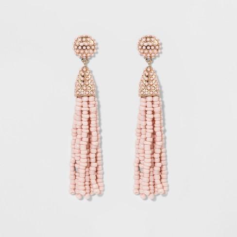 SUGARFIX by BaubleBar Tassel Earrings - Blush