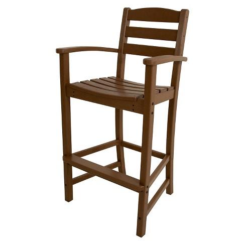 Polywood 174 La Casa Bar Height Patio Dining Arm Chair