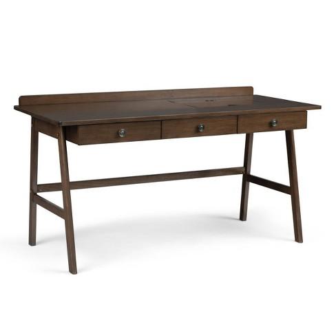 "60"" Lisa Desk Natural Aged Brown - Wyndenhall - image 1 of 4"