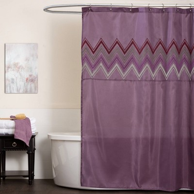 Myra Shower Curtain Purple - Lush Décor