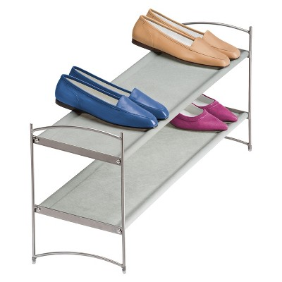 Lynk Vela Stackable Shoe Shelves 2 Tier - Shoe Rack Shelf - Platinum