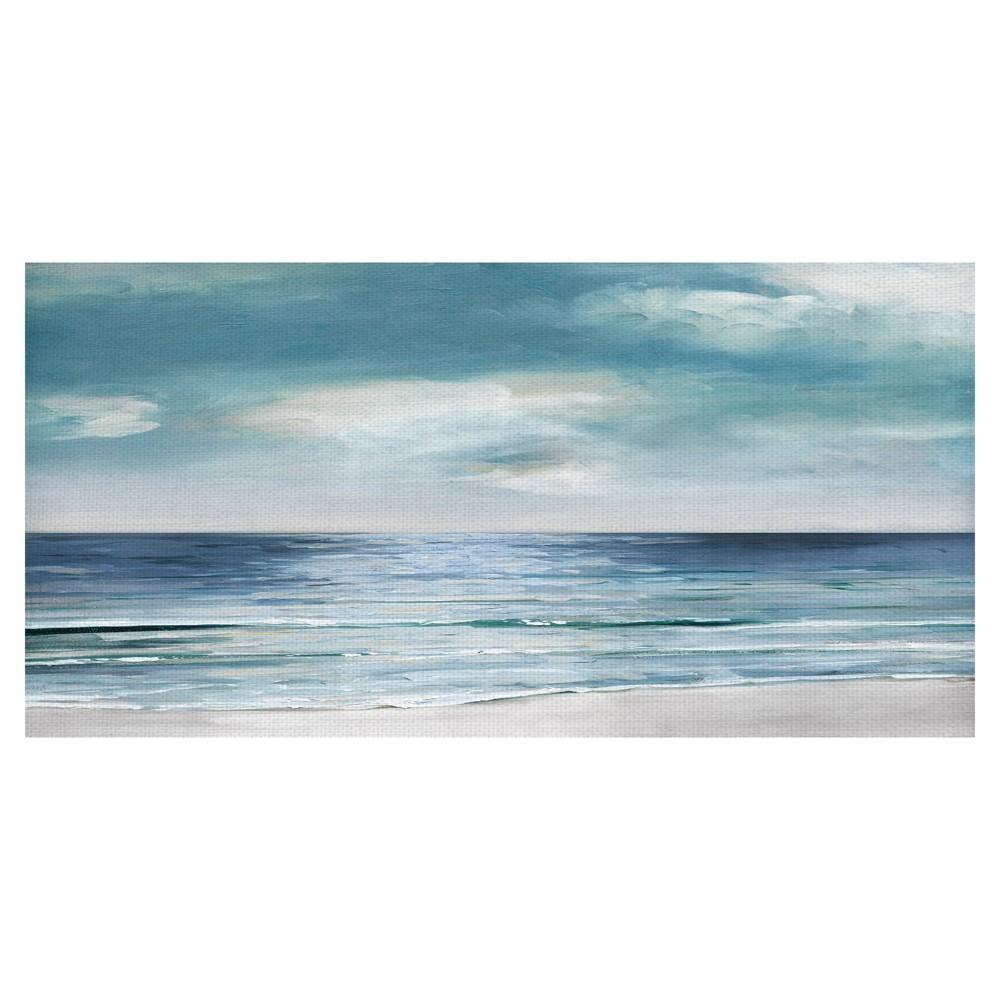 24 X48 Silver Shore By Sally Swatland Art On Canvas Fine Art Canvas