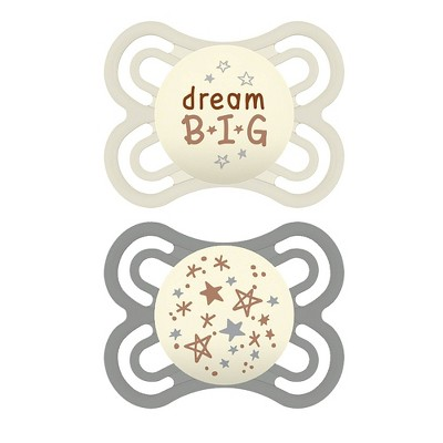 MAM Perfect Night Pacifier 2ct - Green/White - 0-6 Months