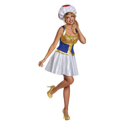 Super Mario Bros: Toad Women's Costume - image 1 of 1