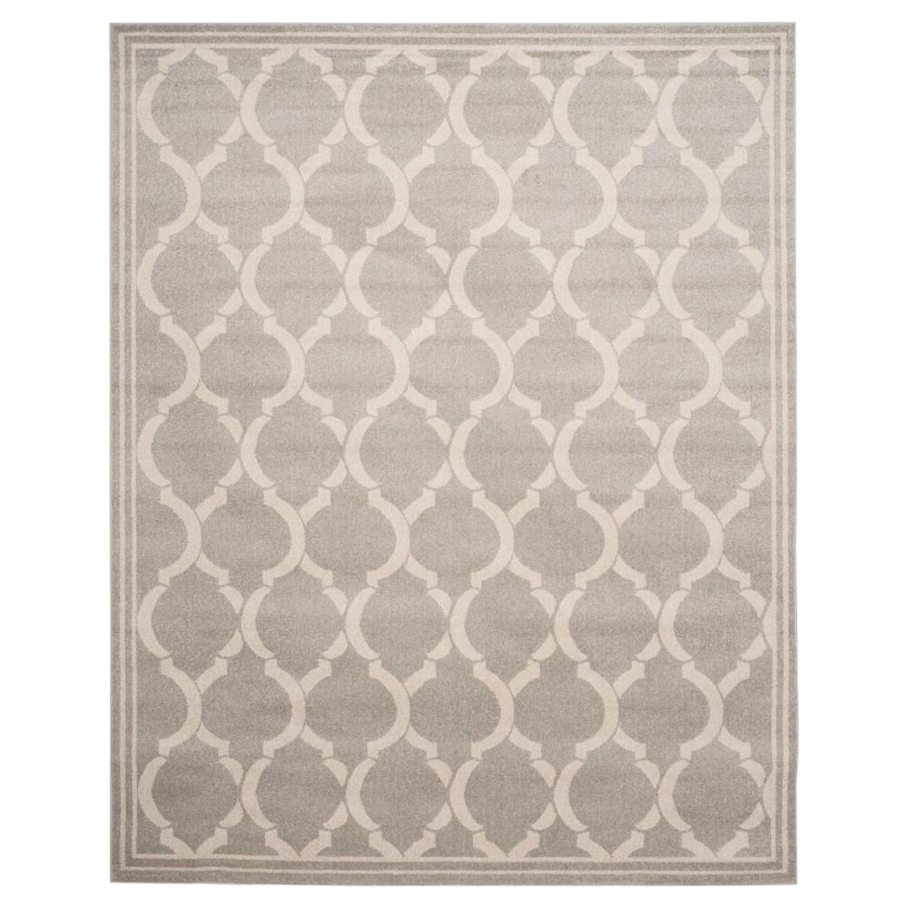 Light Gray/Ivory Geometric Loomed Area Rug 8'X10' - Safavieh