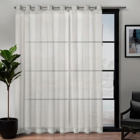 "108""x84"" Belgian Patio Sheer Grommet Top Single Curtain Panel - Exclusive Home - image 1 of 4"