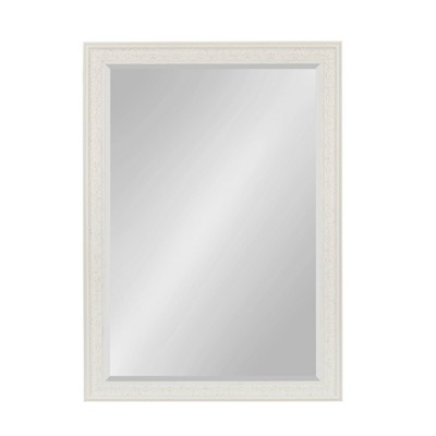 """29"""" x 41"""" Alysia Framed Wall Mirror White - Kate and Laurel"""