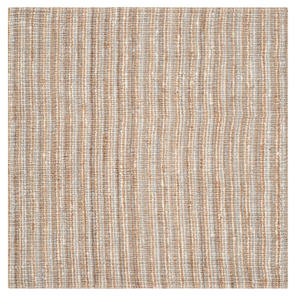 Serena Natural Fiber Area Rug - Gray / Natural (Gray/Natural) (8' X 8') - Safavieh