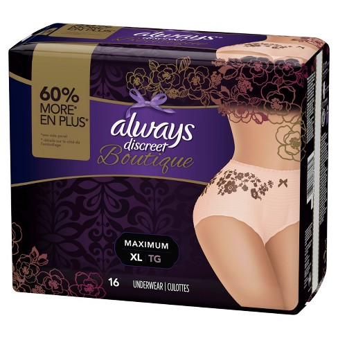 Always Discreet Boutique Incontinence Underwear Maximum Rose XL 16ct - image 1 of 1