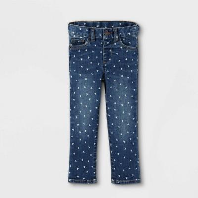 Baby Girls' Heart Skinny Jeans - Cat & Jack™ Medium Wash