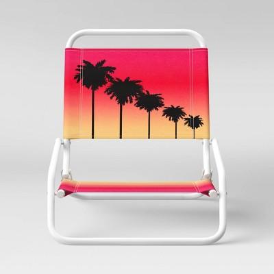 Sand Chair Palm Print Orange - Sun Squad™