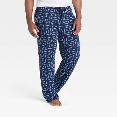Men's Big & Tall Regular Fit Knit Pajama Pants - Goodfellow & Co™ Blue
