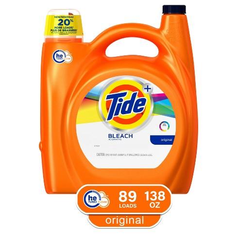 Tide Original Plus Bleach Alternative High Efficiency Liquid Laundry Detergent - 138 fl oz - image 1 of 3