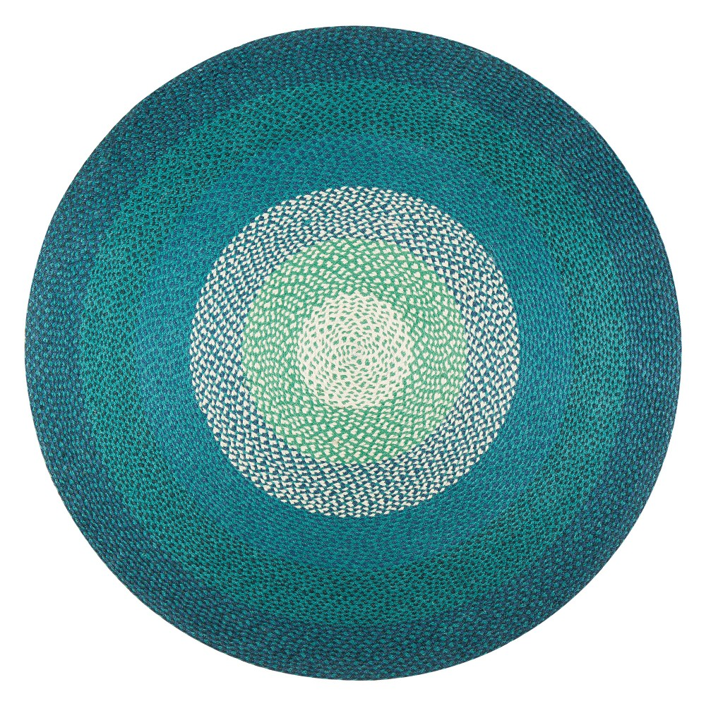Image of 4' Shapes Braided Round Area Rug - Anji Mountain, Multicolored