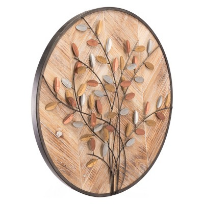 ZM Home 24  Rustic Floral Wall Sculpture