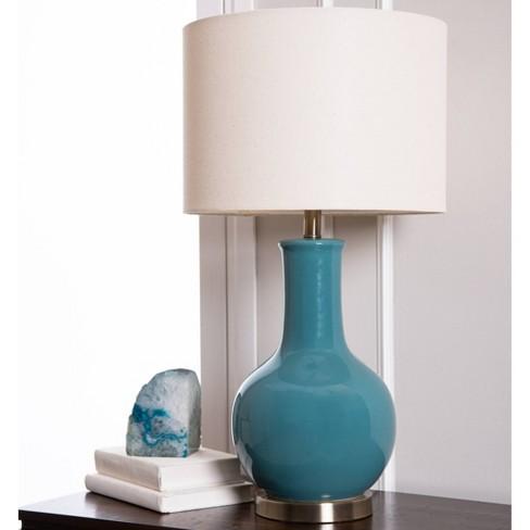 Maybury Ceramic Table Lamp Blue Abbyson Living Target