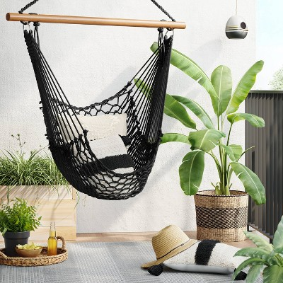 Rope Chair Swing with Spreader Bar - Black - Threshold™