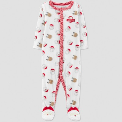 Baby's Christmas Microfleece Sleep 'N Play - Just One You® made by carter's White Newborn