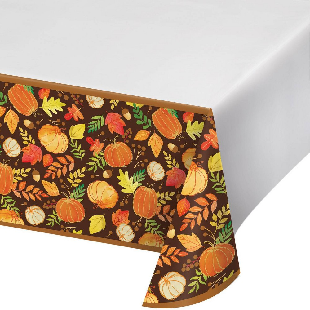 3ct 34 Give Thanks 34 Plastic Tablecloth
