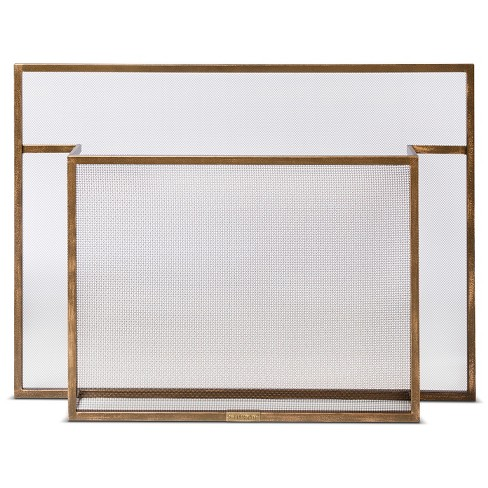 Carson Fireplace Screen Burnished Brass - Smith & Hawken™ - image 1 of 2
