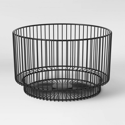 "18"" x 11"" Metal Wire Basket with Black Finish - Project 62™"