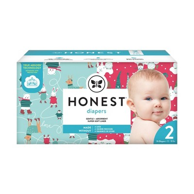 The Honest Company Ice Ice Baby & Gnomies for Life Disposable Diapers - Size 2 - 76ct