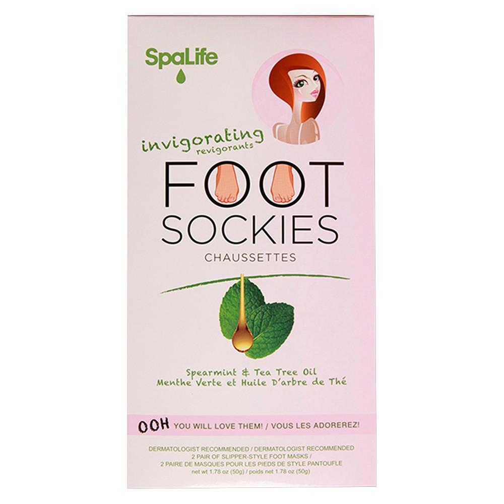 SpaLife Invigorating Foot Sockies, White
