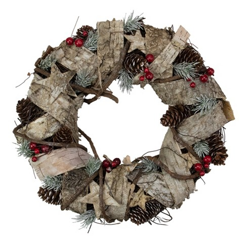 Northlight Pine Cones and Berries Artificial Christmas Wreath - 13-Inch, Unlit - image 1 of 3