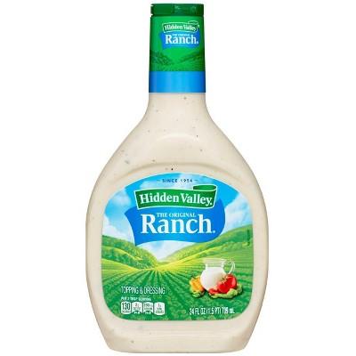 Hidden Valley Original Ranch Salad Dressing & Topping - Gluten Free - 24fl oz