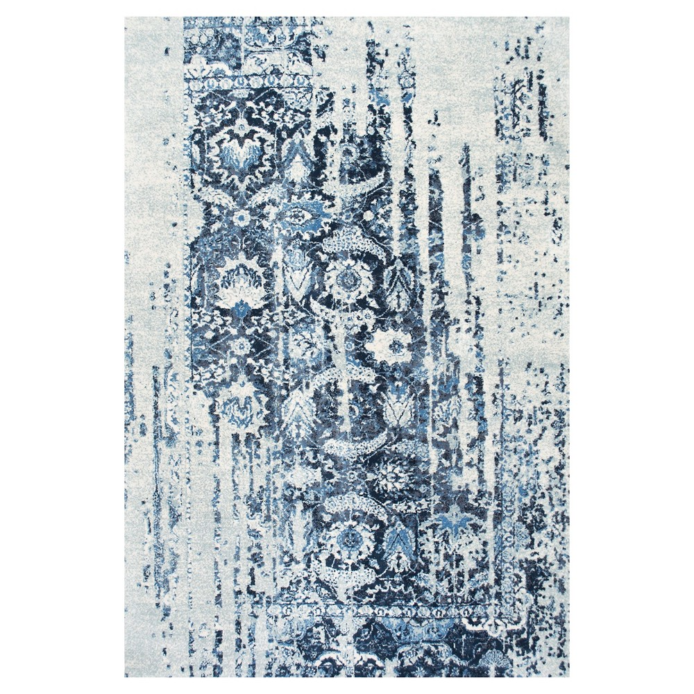 Blue Solid Loomed Area Rug - (8'6