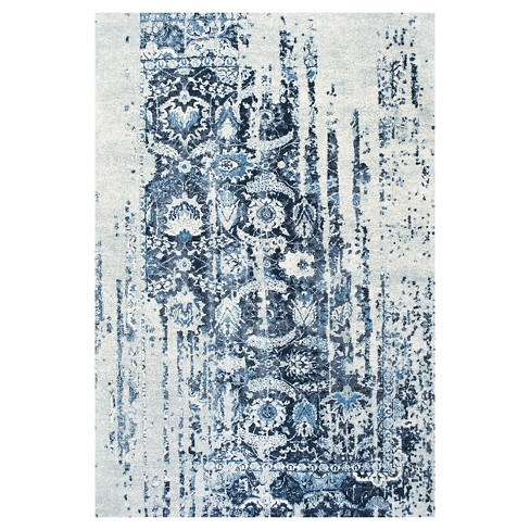 Distressed Ernestina Flourish Rug - nuLOOM - image 1 of 4