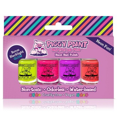 Piggy Paint Nail Polish Set - Neon - 4pk/0.48 fl oz