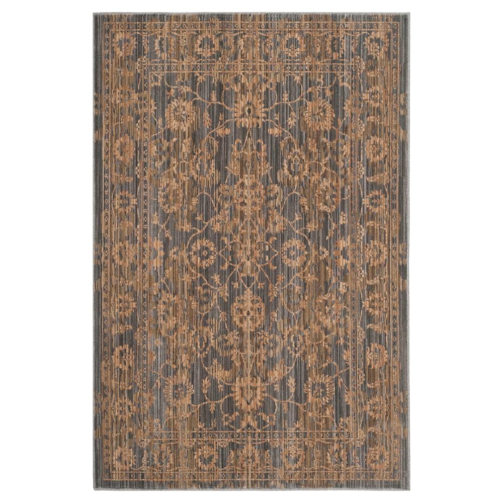 Gray/Beige Floral Loomed Area Rug 8'X10' - Safavieh