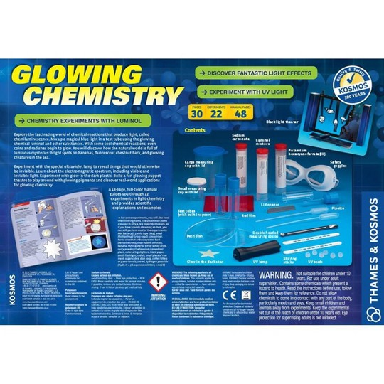 Thames & Kosmos Glowing Chemistry Experiment Kit image number null