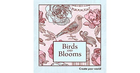 Birds And Blooms Adult Coloring Book Target